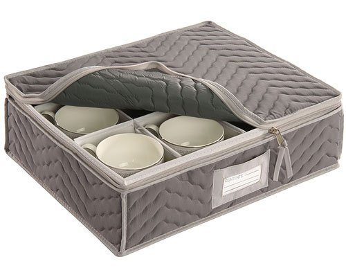HomyDelight Microfiber Cup Storage Chest 3 lbs 15.5'' 5'' 13''
