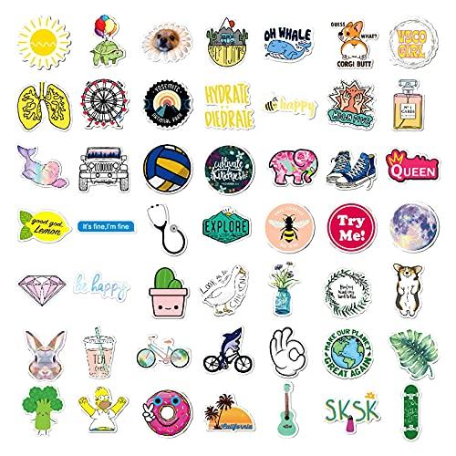 Cute Stickers for Water Bottles, VSCO Sticker Waterproof Vinyl Stickers, 100 PCS Stickers for Hydro Flask, Laptop, Computer, Skateboard, Aesthetic Stickers Pack for Teens Girls Kids