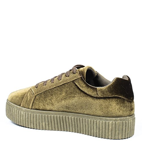 Effet Shoes Baskets Velours Ideal Style Sophie Creepers IP484