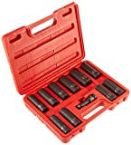 Sunex 2611 1/2-Inch Drive Extra Thin Wall Deep Impact Socket Set