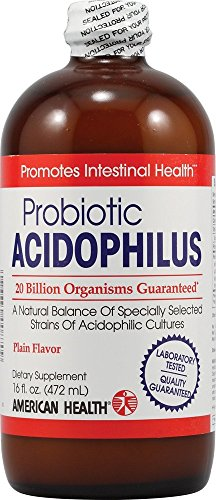 Probiotic Acidophilus - Plain Flavor 20 Billion Cfu 16 fl Ounce (472 ml) Liquid by American Health