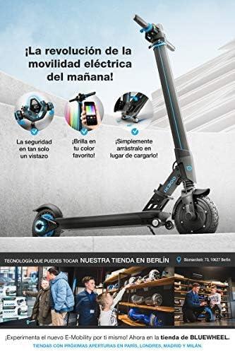 Comprar ¡Novedad 2019! Patinete eléctrico Scooter IX300 de Bluewheel con App Smartphone,LED Multicolor,Bluetooth,LCD Display, batería Li-Ion de hasta 20 km*. Patín Freestyle para niños y Adultos (IX300 S)