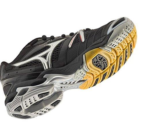 Mizuno Women's Wave Lightning RX Volleyball Shoe,Black/Silver,11 M US