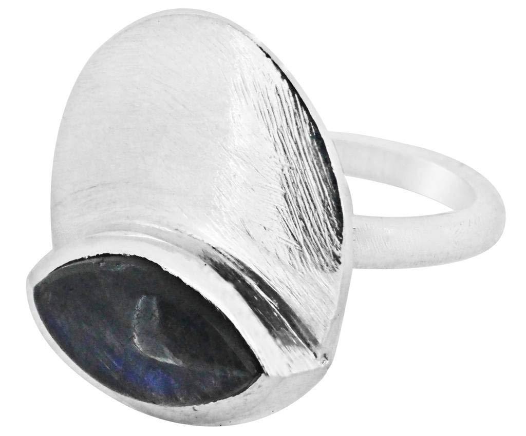 M/s Gajraj Labradorite Stone 925 Sterling Silver Ring, US-9.5