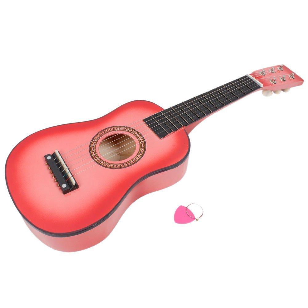 New 23'' Acoustic Guitar Pick Strings Pink Beginner Practice Girl Kid Instrument Gift by Generic