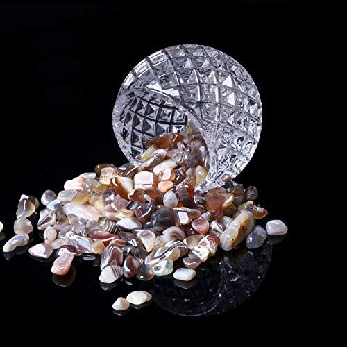 Calvas Natural Persian Carnelian Gravel vase Chalcedony Crystal Aquarium Glass Fish Tank Pebbles Striation Detritus DIY Craft - (Item Diameter: 100g 9-12mm)