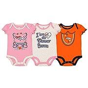 Outerstuff NFL Infant Baby Girl's 3-Pack Bodysuit Set, Denver Broncos 12 Months