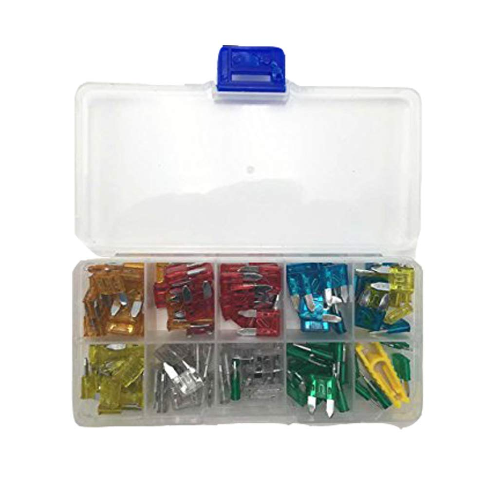 Standard 2A//3A//5A//7.5A//10A//15A//20A//25A//30A//35A Cara Car Blade Fuses Assortment Kit Car Fuse Assorted Automotive Auto Truck Boat SUV Replacement Fuse Puller 100pcs