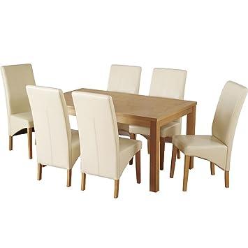 Belgravia Esstisch Aus Holz Mit Sechs 6 Stuhle Cremefarben
