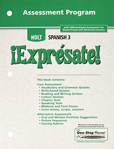 Holt Spanish iExpresate Spanish Level Three Assessment Program