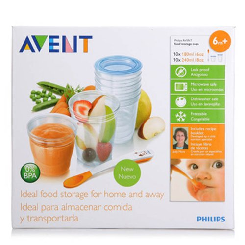 Amazon.com  Philips AVENT SCF720/10 VIA Baby Food Storage Set  Baby Bibs  Baby  sc 1 st  Amazon.com & Amazon.com : Philips AVENT SCF720/10 VIA Baby Food Storage Set ...