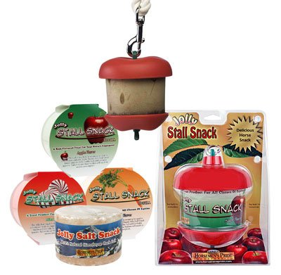 Horseman's Pride Jolly Apple Stall Snack Refills and Apple Holder Available. Horse Stall Treats and Snacks (Apple Stall Snack with -