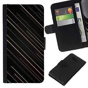 All Phone Most Case / Oferta Especial Cáscara Funda de cuero Monedero Cubierta de proteccion Caso / Wallet Case for Samsung ALPHA G850 // Stripes Pattern Art Wallpaper Orange Green Black