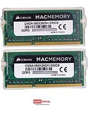 MEMORIAS P/NOTEBOOK MAC - 16GB KIT 2 X 8GB / DDR3-1333 CORSAIR - CMSA16GX3M2A1333C9