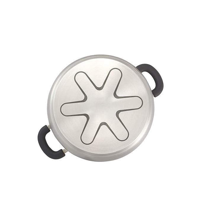 Sopa Olla Acero Inoxidable 304 Engrosamiento del Hogar Cocina de Oído de Doble Fondo 20/22 CM Cocina de Inducción Adecuada para el Uso (Tamaño : S): ...