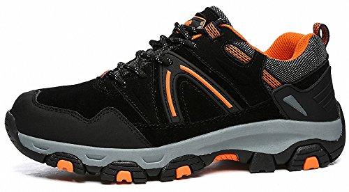 Ben Sports Damen Herren Wanderhalbschuhe Wanderstiefel Traillaufschuhe Walkingschuhe Laufschuhe E-Schwarz