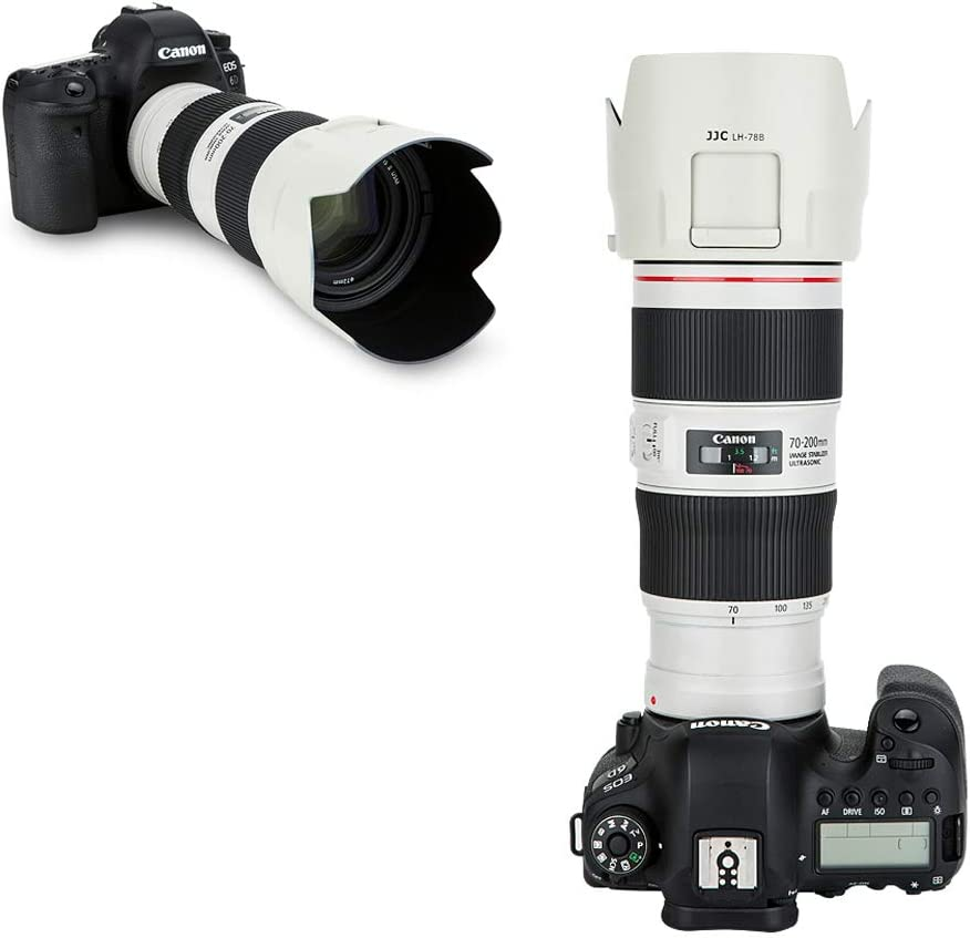 White White Lens Hood Shade Fit for Canon EF 70-200mm f//4L is II USM Lens Replaces Canon ET-78B Hood Dedicated Reversible