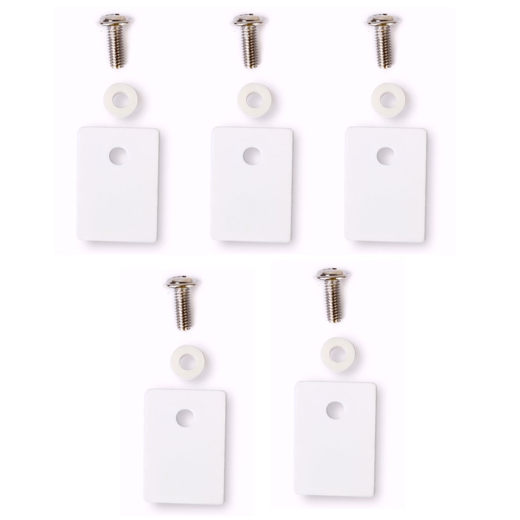 Almencla 5pcs TO-220 Ceramic Transistor Triac Thyristor Insulation Pads Insulator Mica
