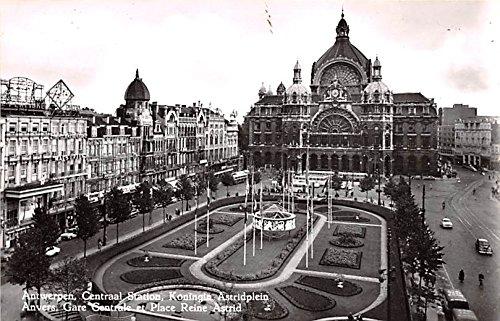 Centraal Station, Koningin Astridplein Antwerpen Belgium, Belgique, Belgie, Belgien Postcard
