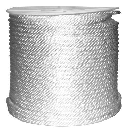 Rope King SBN-38500 Solid Braided Nylon Rope 3/8 inch x 500 feet (Splicing Polypropylene Rope)