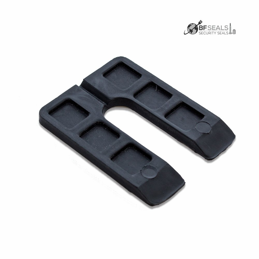 Black Plastic Shim Horseshoe U Shape, Size: 3'' x 4'' x 1/4. Pack of 50 pcs. by BFSEALS