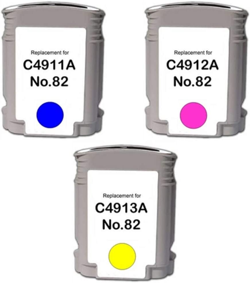 WORLDS OF CARTRIDGES Remanufactured Ink Cartridge Replacement for HP 82 for Use in HP DesignJet 500//510 // 815//820 // CC800PS /& DeskJet 800 Yellow C4913A
