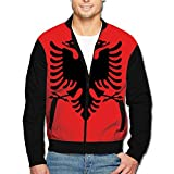 988Iron Flag Of Albania Men's Casual Sport Zip Outerwear Jacket