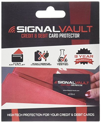SignalVault SV-2Pack RFID Blocking Signal Vault Credit & Debit Card Protector (2 Cards) (Best Credit Card For Everyday Purchases)
