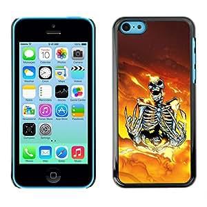 Caucho caso de Shell duro de la cubierta de accesorios de protección BY RAYDREAMMM - iPhone 5C - Skeleton Warrior