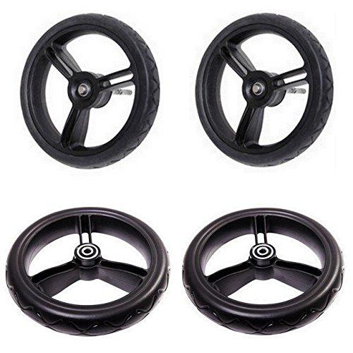 (Mountain Buggy Aerotech Wheel Set for Duet Stroller, Black)