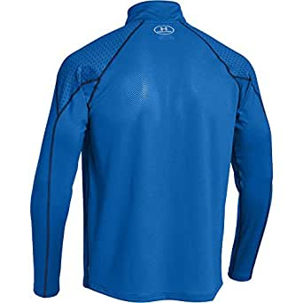 "Under Armour mens Under Armour Mens Cold Gear Infrared Chrome Half Zip Top Blue Scatter/Royal/Reflective XL - 46-48"" (116-121cm)"