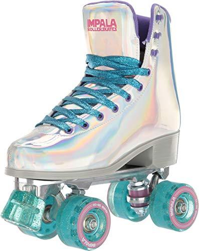 Impala Rollerskates Girl's Impala Quad Skate (Big Kid/Adult) Holographic 7 M