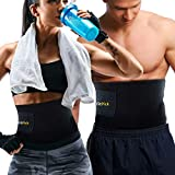 FitPick Women's Men's Sweat Slim Belt Body Shaper (Black, Free Size)