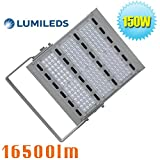 400 Watt HPS HID Metal Halide Equivalent 150W LED Flood Light-16500lm-Daylight White 6000K Security Floodlights IP65 Waterproof Street Area Light Road Lighting (150)
