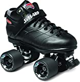 Sure-Grip Rebel Roller Skate Package - black sz Mens 7/Ladies 8