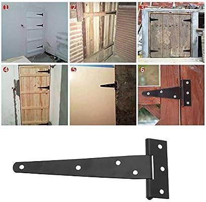 YINETTECH juego de bisagras de cobertizo en T de 4 pulgadas/5 pulgadas/6 pulgadas, 6 piezas, herramientas resistentes para puerta de granero, 12,7 cm: Amazon.es: Hogar