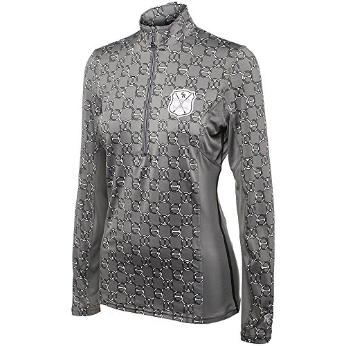 Goode Rider Girls L/S Ideal Show Shirt Gunmetal 16 ()