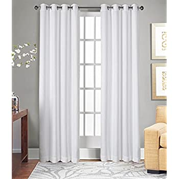 Curtains For Living Room And Bedroom Made Of 100 Natural Cotton Eco Friendly Safe Extra Large White 96 Inch Long Window Set 2
