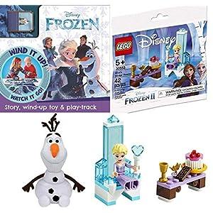Ice Princess Elsa Winter Throne Frozen II Bag Mini Scene 30553 Bundled with Character Pez Head Dispenser + Snowman…