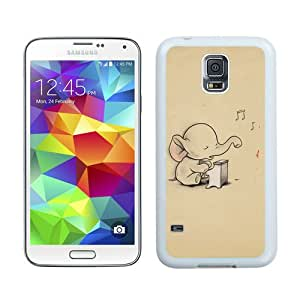 Personalized Custom Picture Samsung Galaxy S5,Elephant White Samsung Galaxy S5 Custom Picture Phone Case