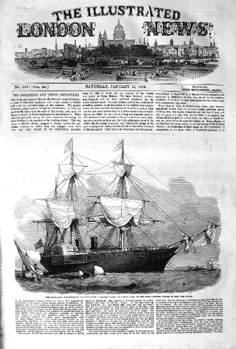old-print Print 1852 Royal Mail Steam Packet Company Ship Amazon