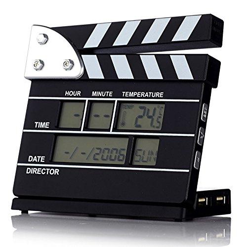 Satzuma Hollywood Alarm Clock with 4 Port USB Hub Reloj Alarma Diseño Claqueta de Cine