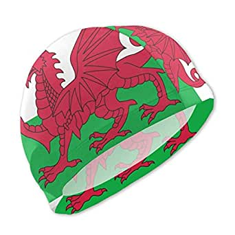 SFHJK Swim Caps Gorro de Natacion Welsh Dragon Flag Lycra Swim ...