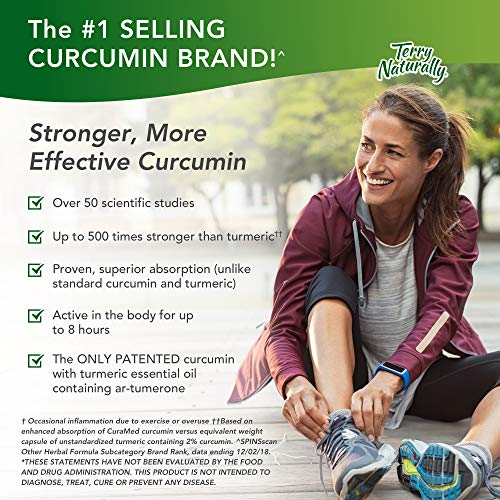 Terry Naturally CuraMed 750 mg - 60 Softgels - Superior Absorption BCM-95 Curcumin Supplement, Promotes Healthy Inflammation Response - Non-GMO, Gluten-Free, Halal - 60 Servings by Terry Naturally (Image #6)