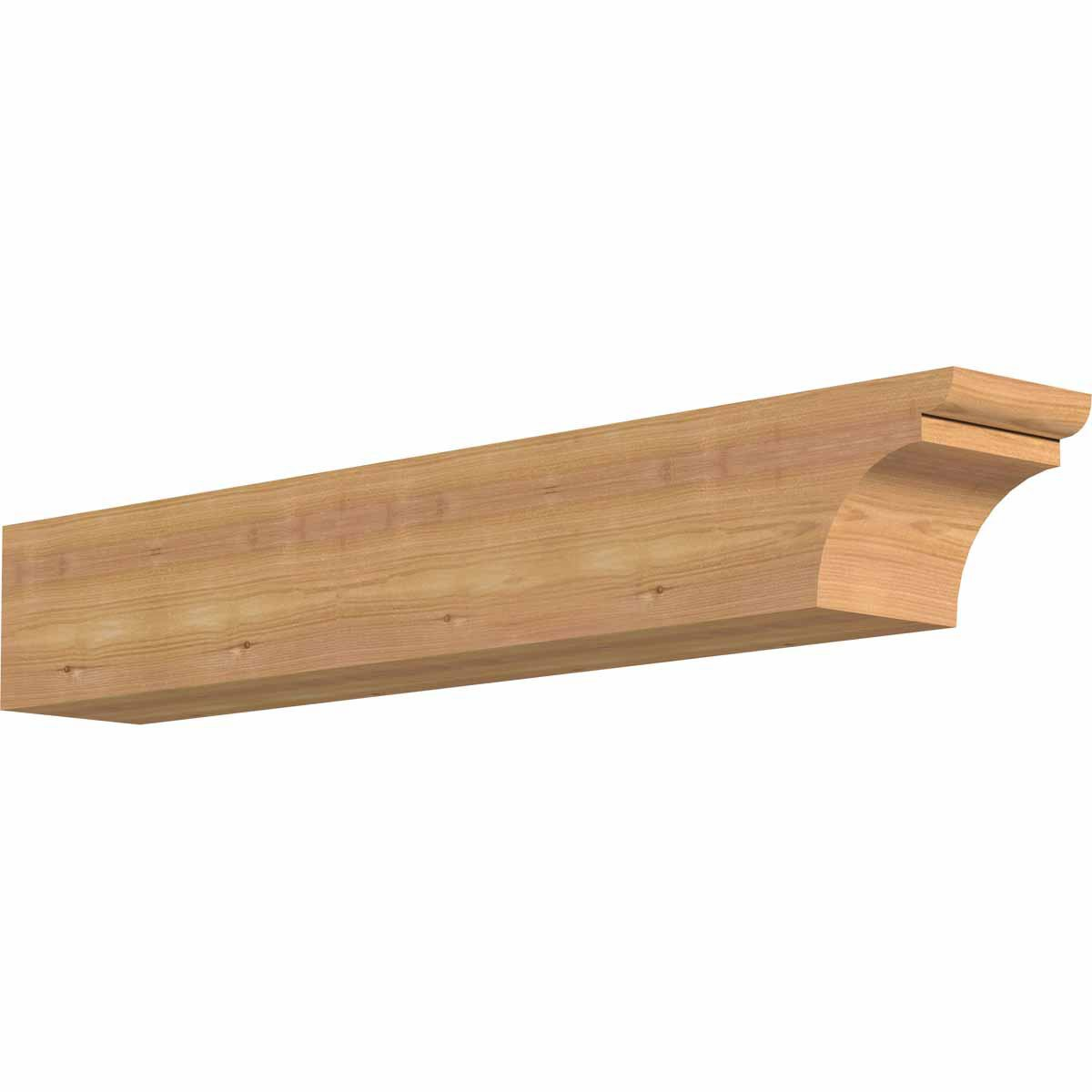 Ekena Millwork RFT06X06X36YOR00SWR Yorktown Smooth Rafter Tail, 5 1/2'' Width by 6'' Height by 36'' Length, Western Red Cedar by Ekena Millwork