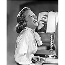 June Allyson 8 inch by 10 inch PHOTOGRAPH Til the Clouds Roll By The DuPont Show w/June Allyson Little Women B&W Pic Eyes Closed Laughing Hard kn