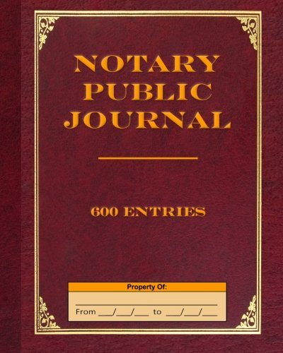 Pdf Money Notary Public Journal 600 Entries