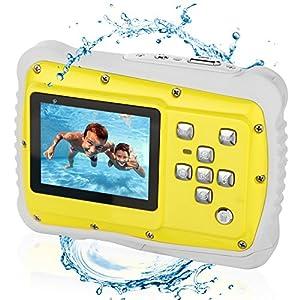 Bybrutek Kids Camera, 12MP HD Children Underwater 3M Waterproof Action Camera Camcorder, 2-Inch LCD, 4x Digital Zoom, 5 MP CMOS Digital Camera