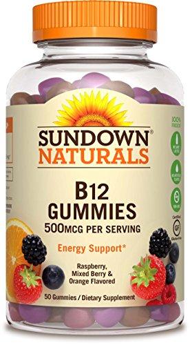 Sundown NaturalsVitamin B-12 500 mcg, 50 Gummies (Pack of 3)