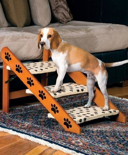 Convertible Pet Ramp Steps Dog Cat Stairs Wood 2 in 1 Staircase Cat Folding New by NOT APPLICABLE